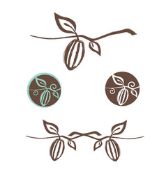 cocoa logo design set vector image