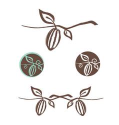 Cocoa logo design set vector