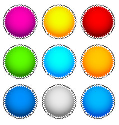 colorful starburst flash badge set graphics vector image
