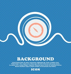 Compass sign icon Windrose navigation symbol Blue vector