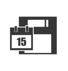 data diskette device vector image