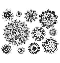 Decorative mandala designs in various style vector