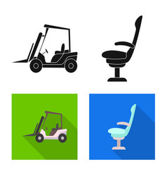 Design of airport and airplane icon vector