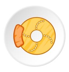 Disc brake car icon cartoon style vector