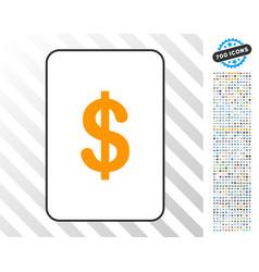 dollar card with bonus vector image
