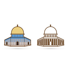 dome rock icon israel cartoon graphic vector image