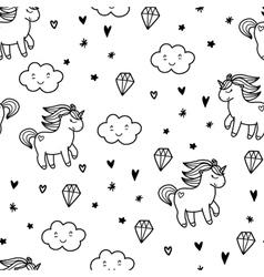 Doodles cute seamless pattern vector