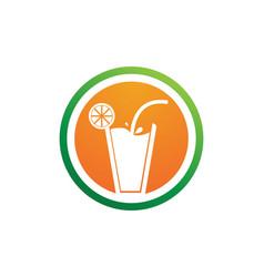 Drink juice logo and symbols template app vector