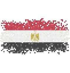 Egyptian grunge tile flag vector image