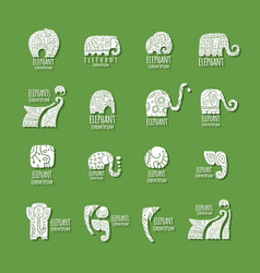 elephant logo collection for your design vector image