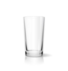 Empty drinking glass realistic cup vector