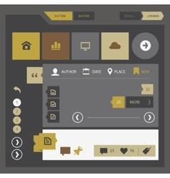 Flat design UI UX kit vector