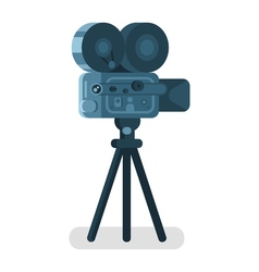 Flat style of old cinema camera Icon for online vector