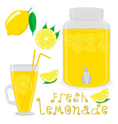 For slice citrus fruit lemon vector