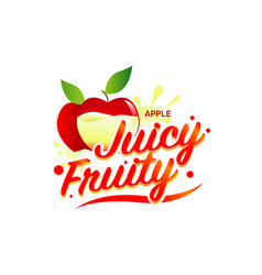 Fresh apple juicy fruity sign symbol logo icon vector