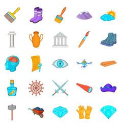 godsend icons set cartoon style vector image