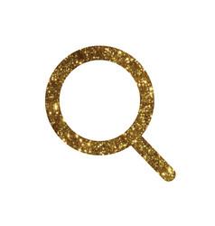 golden glitter colorful search line icon vector image