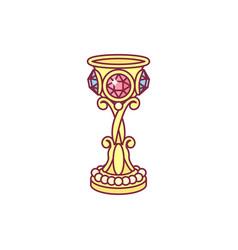 Golden goblet chalice vector