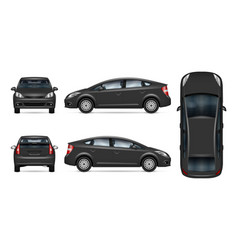 Grey car template vector
