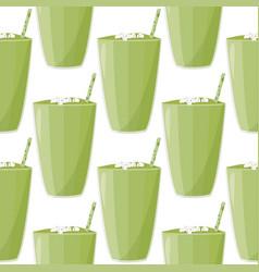 Healthy fresh drink smoothie background detox vector