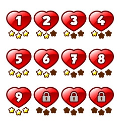 Heart level selection vector image