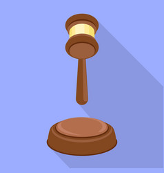 judge hammer decision icon flat style vector image