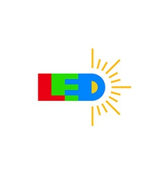 LED technology logo vector