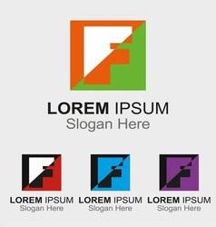 Letter F logo design sample icon vector image