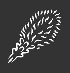liatris chalk icon blazing star blooming flower vector image