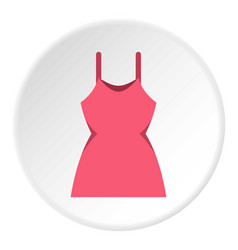 little pink dress icon circle vector image