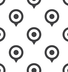map pin seamless pattern vector image
