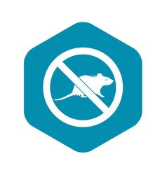 No rats sign icon simple style vector