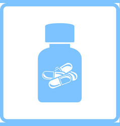 Pills bottle icon vector
