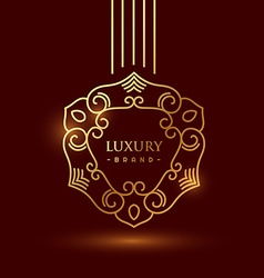 premium luxury golden floral symbol vector image