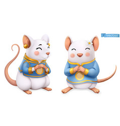 Rat mouse funny animal in chinese zodiac vector