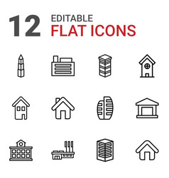 residential icons vector image