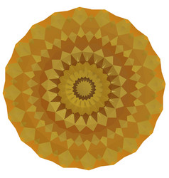 Round gold polygonal background vector