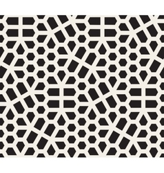 Seamless Black And White Irregular Hexagon vector image