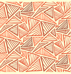 Seamless pattern with warm terra cotta triangles vector