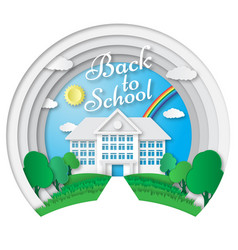 Set of back to school banners in origami vector