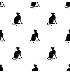 Siamese icon in black style isolated on white vector