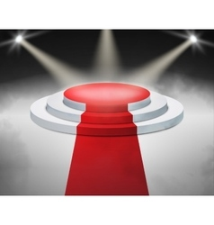 Smoky Stage Podium Illuminated with spotlight for vector image