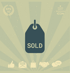 sold tag vector image