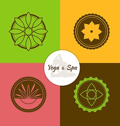 Spa and yoga lables set vector image