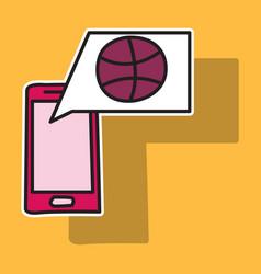 sticker unusual look dribbble social media icon vector image
