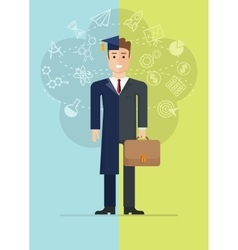 Student and businessman vector