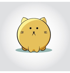 Thick Cat face - vector image