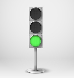 Traffic light green diod traffic light Tem vector image vector image