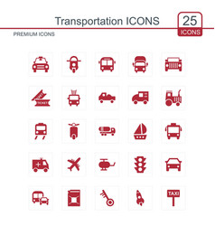 transportations icons set vector image
