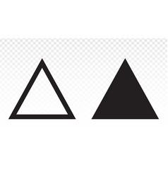 Up arrow triangle or pyramid line art icon vector